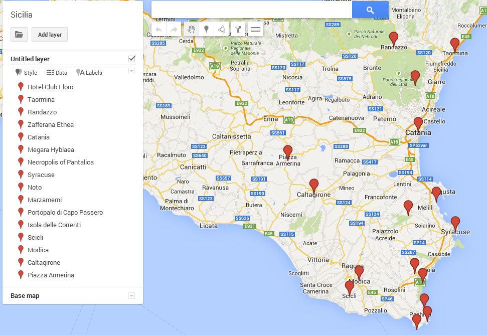 Mappa Spagna Orientale.Sicilia 15 Posti Da Non Perdere Nella Parte Orientale
